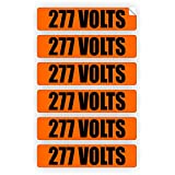 277 Volts Voltage & Conduit Markers | Stickers | Decals | Labels Electrical 6x