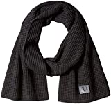 Fred Perry Adult's Waffle Knit Scarf, Black, ONE SIZE