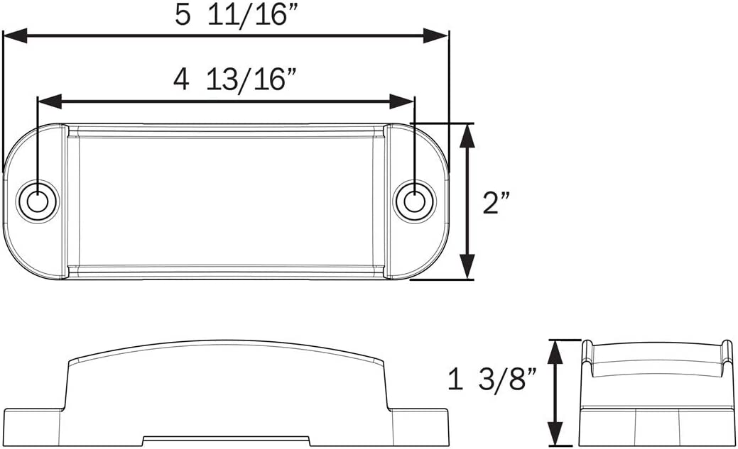 LED Marker//Clearance Light Optronics MCL73RBP