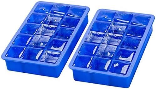 Seifenprofis® 1,2,3,4 Eiswürfelform aus Silikon, 3,3 x 3,3 x 3,3cm BPA-Frei (1 Silikonform)