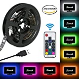 LED Strip Lights, USB TV Backlight Kit RGB Bias Lighting with Remote(78inch/2m), Ambient Home Theater Light, Accent Lighting to Reduce Eye Strain and Increase Image Clarity
