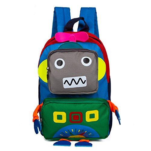 Children's Satchel Bag Baby Boys Girls Kid Travel Backpack Toddler Pre School Backpack Children Backpacks Bags Schoolbag Cute Backpacks, Blue Robot