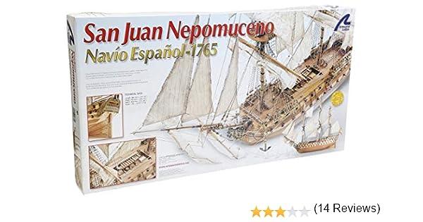 Artesanía Latina 22860. Maqueta de Barco en Madera San Juan Nepomuceno 1/90: Amazon.es: Juguetes y juegos