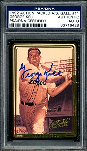 George Kell Autographed 1992 Action Packed Card #11 Detroit Tigers PSA/DNA -