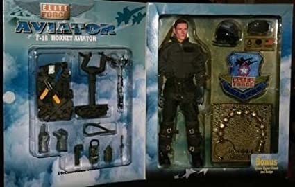 Elite Force F-18 Hornet Aviator Pilot Cougar 12 1//6th Scale Action Figure Set