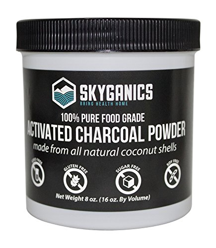 Skyganics Activated Charcoal Powder - Powdered Coconut Activ