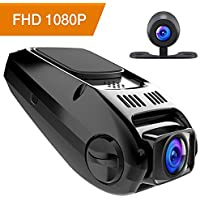 Apeman FHD 1080p 170-Degree Wide Angle Dual Dash Camera with G-Sensor, WDR, Loop Recording, 6G Lens, Motion Detection