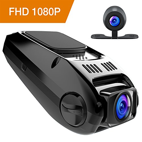 APEMAN Dash Cam Car DVR Dashboard FHD 1080P 170 Wide Angle Dual Dash Camera with G-Sensor