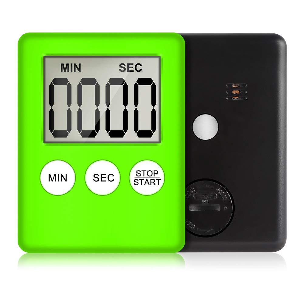 LCD-Display Countdown-Alarm Temporizador zum Backen 7 1cm rose Zhongyu Digitale K/üchenuhr mit magnetischer R/ückseite 5