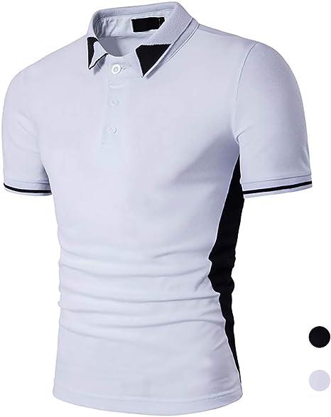 Adidase Camisa Polo de Costura de los Hombres,Camisa Polo Casual de Negocios Camisa de Manga Corta de Solapa.: Amazon.es: Deportes y aire libre