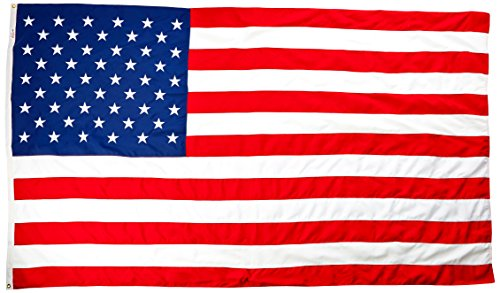 Flag Large (Valley Forge Flag 6 x 10 Foot Large Commercial-Grade 2-Ply Spun Polyester US American Flag)