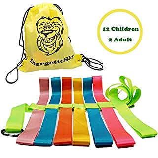 Safety Walking Rope with Colorful Handles for Up to 6 Children,10 Children and 12 Children-Perfect for Daycare Schools and Teachers.