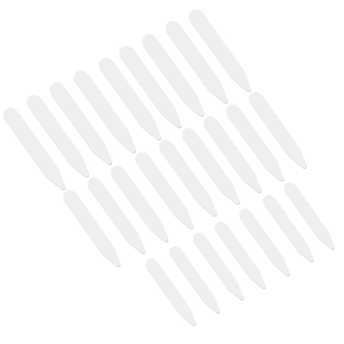 Clispeed VORCOOL 200pcs Collare Bianco in plastica per Ossa per Camicie rigidi in 3 Dimensioni