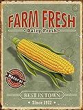 """Barnyard Designs Farm Fresh Corn Retro Vintage Tin Bar Sign Country Home Decor 10"""" x 13"""""""