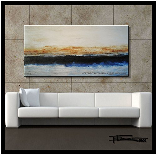 ELOISE WORLD STUDIO - ELOISExxx Abstract Canvas Painting, Modern Wall Art, Oil painting, Limited Edition Giclee, 48in. Direct from Artist, US made, MIDLINE by ELOISE WORLD STUDIO - ELOISExxx