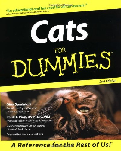 Cats for Dummies, (For Dummies Series)