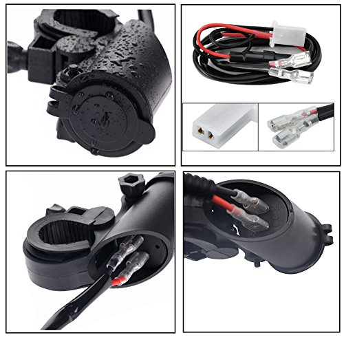 COROTC Motorcycle Charger USB Socket 12v Waterproof for Phone/Tablet/GPS/Vehicle with LED Light by COROTC (Image #5)