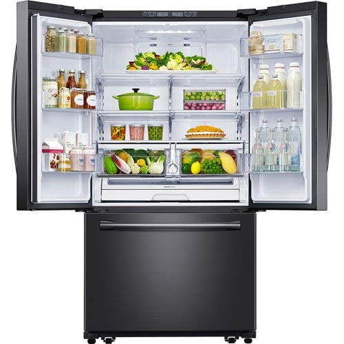 Samsung Appliance RF260BEAESG 36u0022 Black Stainless Steel Series French Door Refrigerator in Black Stainless Steel