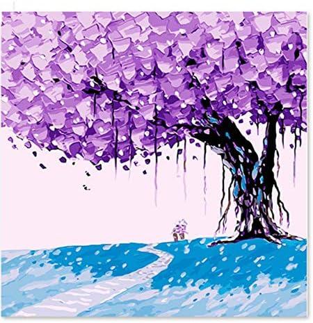 Diamond Painting Kit 5D Purple Tree Un Camino a través de la ...