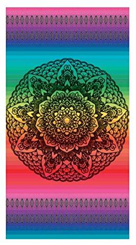 Toalla de playa 100% algodon egipcio (mandala multicolor) (160 x 180 CM): Amazon.es: Hogar