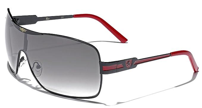 a99d72c0f669 Khan Fashion Men s Square Aviator Style Sunglasses Silver Black Blue Sport  Shades