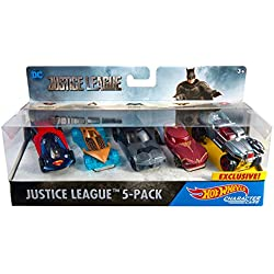 Hot Wheels Justice League Toy Vehicle, 5-Pack