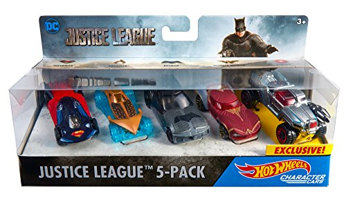 Hot Wheels DC Universe Justice League 5-Pack, Vehicle [Amazon Exclusive]