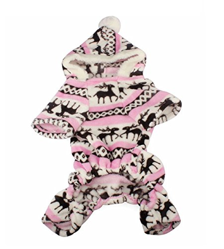 Quality first Pet Dog Warm Clothes Puppy Jumpsuit Hoodie Coat Doggy Apparel dog coat (S, Pink) (Daisy Duke Costume For Adults)