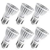Hyperikon PAR16 LED Bulb, 8W (50W Equivalent) 520 lumen, 3000K (Soft White Glow) CRI90+, Spot Light Bulb, Medium Base (E26), Dimmable, UL & ENERGY STAR - Great for Kitchen, Spotlight, Outside (6 Pack)