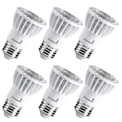 (Hyperikon LED PAR16 Bulb, 50 Watt (8W), Dimmable Spot Light E26, 2700k Warm, CRI90 (6 Pack))