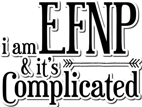 4 All Times I Am ENFP and It's Complicated Automotive Car Decal for Cars, Trucks, Laptops (24.0