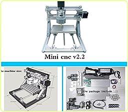 TOPCHANCES CNC Mini DIY Engraver Machine 3 Axis Milling Wood Carving Engraving Machine Kits