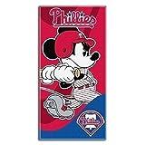 "MLB Philadelphia Phillies Disney ""Mickey Mouse"" Beach Towel, 30 x 60-inches"