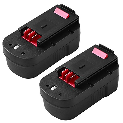 [2-Pack] HPB18-OPE 18V 3.0Ah Battery for Black and Decker Power Tools HPB18 A1718 A18 A18E Firestorm FS180BX