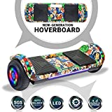 Beston Sports Newest Generation Electric Hoverboard Dual Motors Two Wheels Hoover Board Smart self Balancing Scooter with Built in Speaker LED Lights for Adults Kids Gift (Image 5)