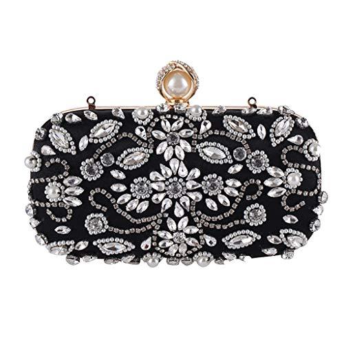 à de soirée NOIR Femme de de la Sac Robe à à LIU Banquet Mode Diamants pour bandoulière Sac Pochette Sac soirée pour Portefeuilles 5xwBUqC
