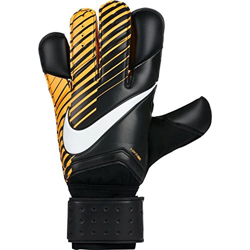 - NIKE GK Grip 3 Soccer Goalkeeper Gloves (Black, Laser Orange, 10)