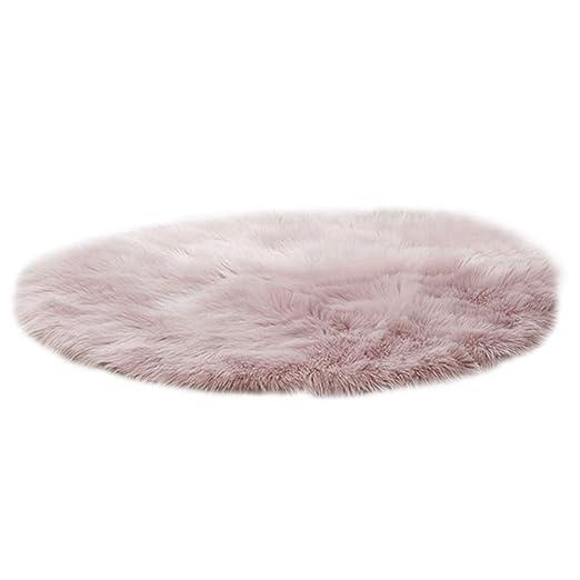 ecmqs alfombra de suelo - 30/40 cm lana artificial pelo ...