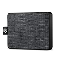 Seagate One Touch 500GB USB 3.0 Portable External Solid State Drive (STJE500400) (Black)