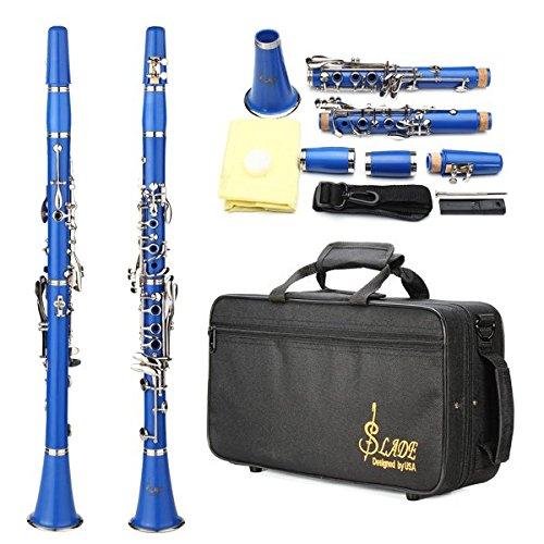 SOUND HOUSE 22 Lade Nickel Plating ABS 17 Key Bâ Binocular Clarinet Blue