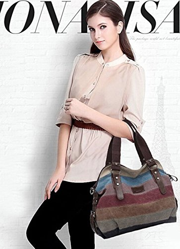KISS Bag Canvas Tote Shoulder Shopper Multi Women's color model TM a GOLD Color Multi ZrxqZHw