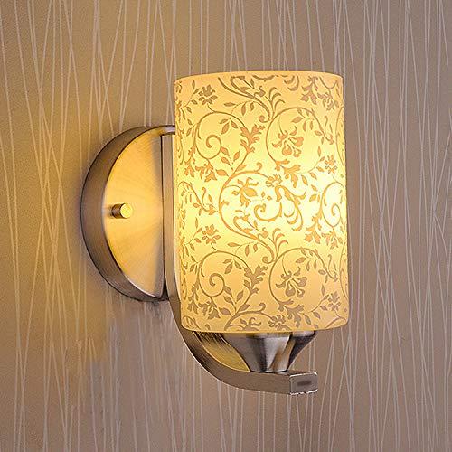 A JINSHUL LED-Licht modernen minimalistischen Stil Glas Schlafzimmer Hause Wand Lampe Hotel Nachttischlampe (Größe   B)