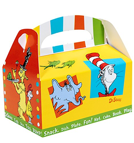 BirthdayExpress Dr Seuss Cat in The Hat Party Supplies - Empty Favor Boxes -