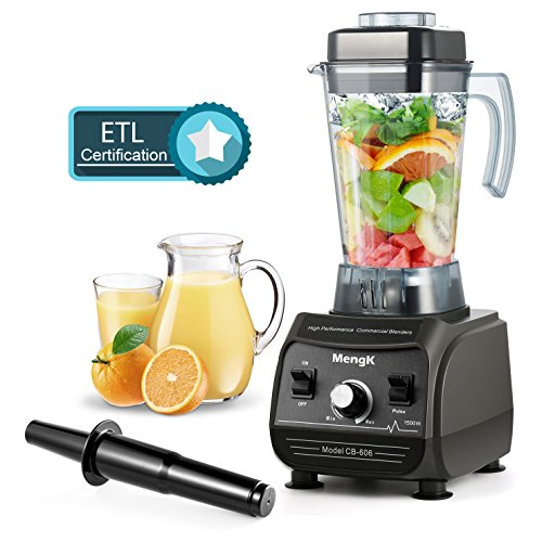 Professional Blender MengK 2000W Peak Horsepower High Speed Electric Total Nutrition Food Processors with 67oz BPA-Free Pitcher for Ice Fruits Vegetables Smoothies Soups Mayonnaise (1500W Rated power)