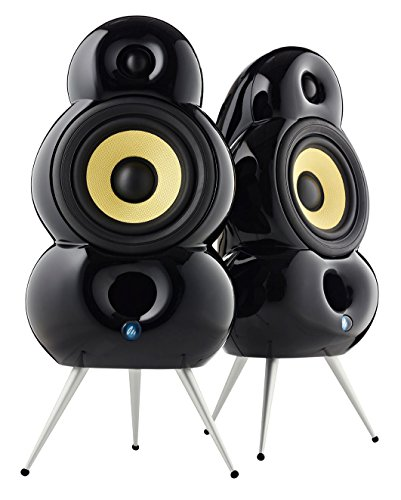 Podspeakers MiniPod Black Speakers for Stereo and Surround (Pair) by Podspeakers