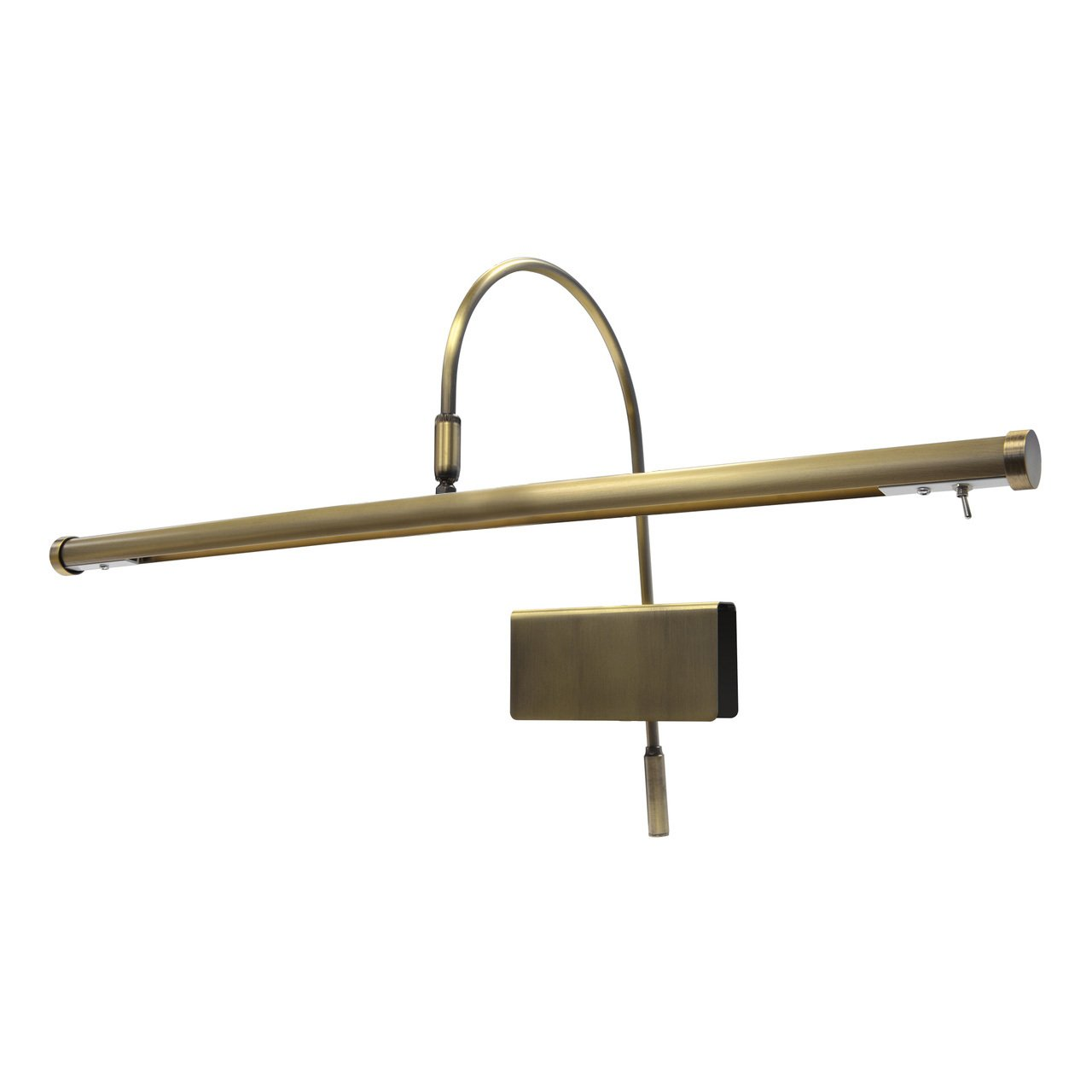 Cocoweb 19'' Adjustable Black with Brass Accents LED Clip-on Piano Lamp with Dimmer - GPLED19D (Antique Brass)