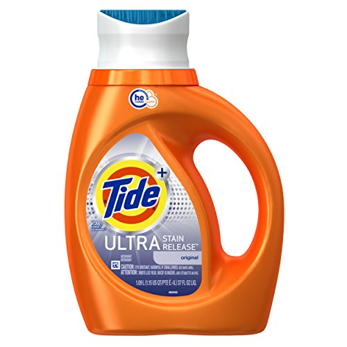 Tide Ultra Laundry Detergent - Tide Plus Ultra Stain Release HE Turbo Clean Laundry Detergent, Original Scent, 1.09 L (19 Loads)