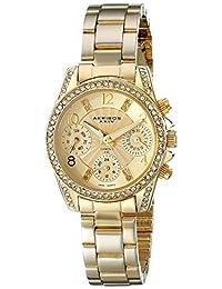 Akribos XXIV Women's AK710YG Analog Display Swiss Quartz Gold Watch