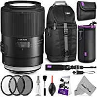 Tamron SP 90mm f/2.8 Di Macro 1:1 VC USD Lens for CANON EF Mount Cameras w/ Advanced Photo and Travel Bundle