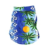 Smart Dogs Clothes Hawaiian Beach T-Shirt Apparel Costumes XXXS-L